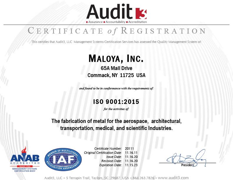 Maloya-ISO-Cert-2020